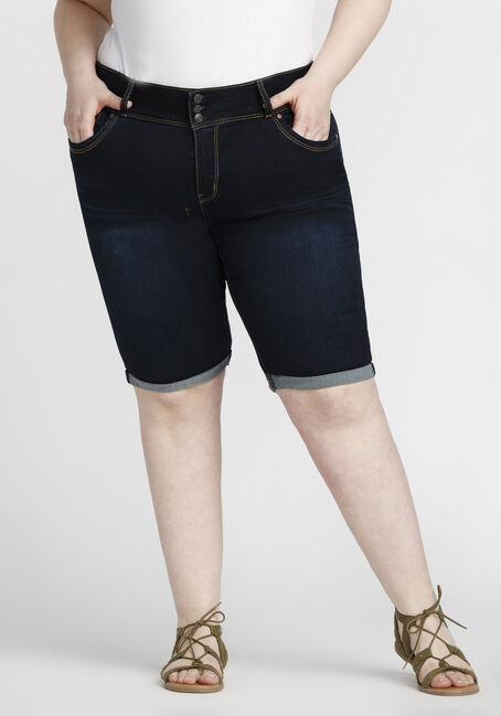 Women's Plus Size Bermuda Jean Short