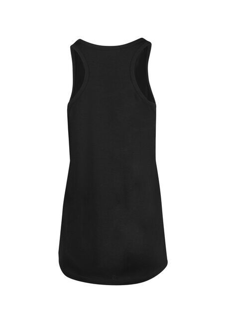 Ladies' Tried Running Racerback Tank, BLACK, hi-res