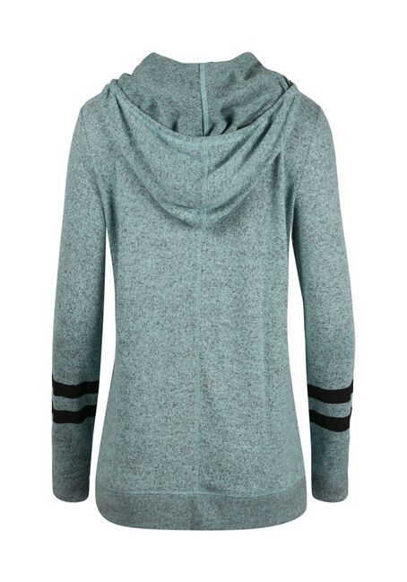 Ladies' Tulip Hem Football Hoodie, AQUAMARINE, hi-res