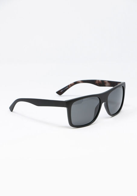 Men's Wayfarer Sunglasses, BLACK, hi-res