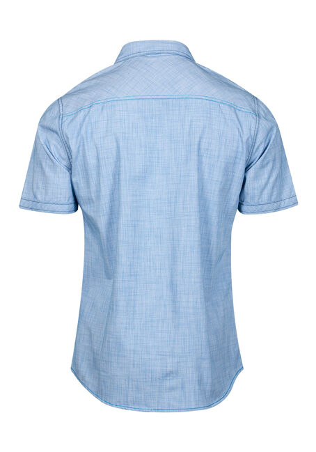 Men's Two Pocket Shirt, BLUE, hi-res