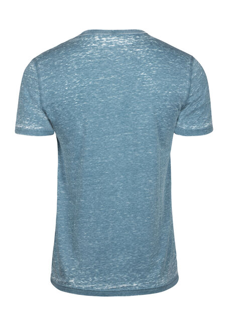Men's Everyday Split V-Neck Tee, STEEL BLUE, hi-res