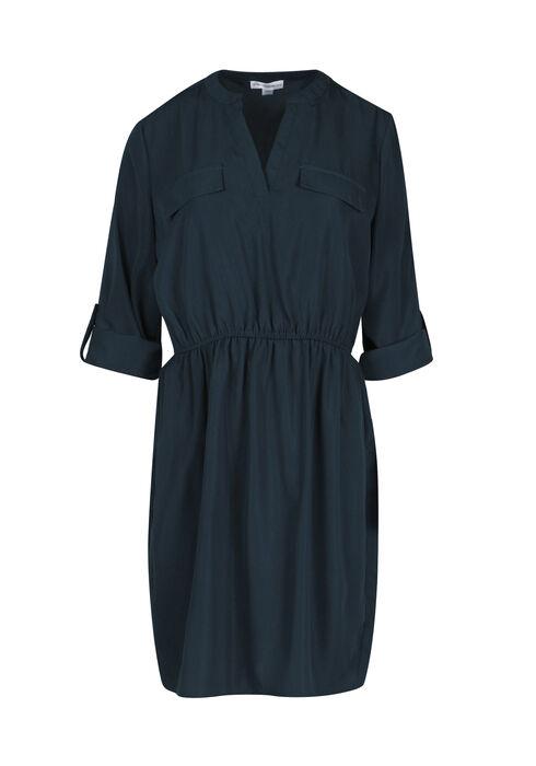 Women's Shirt Dress, TEAL, hi-res