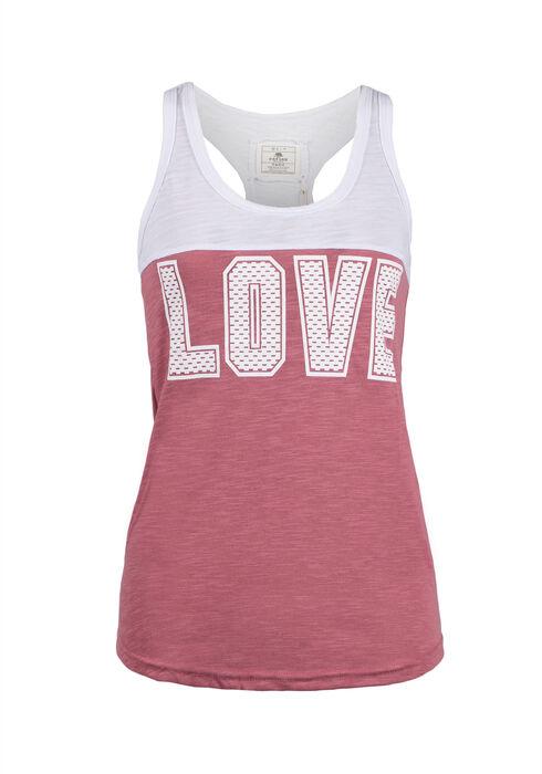 Ladies' Love Racerback Tank, BEGONIA PINK, hi-res