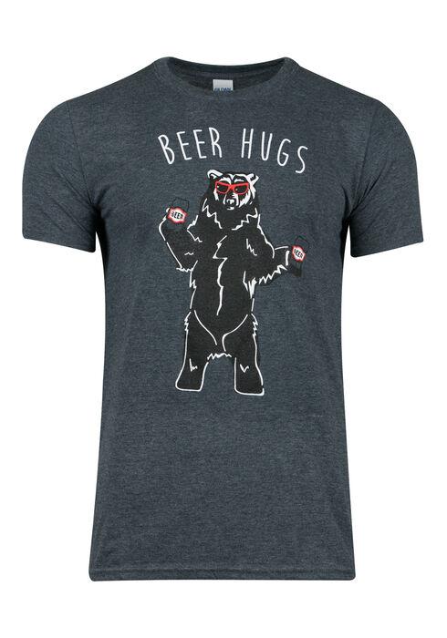 Men's Beer Hugs Tee, DK HEATHER GREY, hi-res