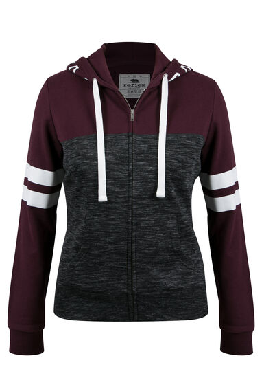 Ladies' Plus Size Love Football Hoodie, PLUM, hi-res
