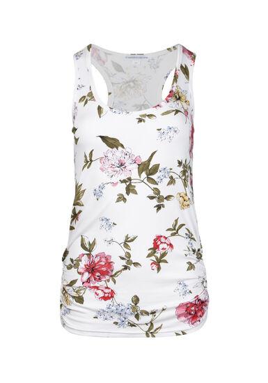 Women's Floral Super Soft Tank, WINTER WHITE, hi-res