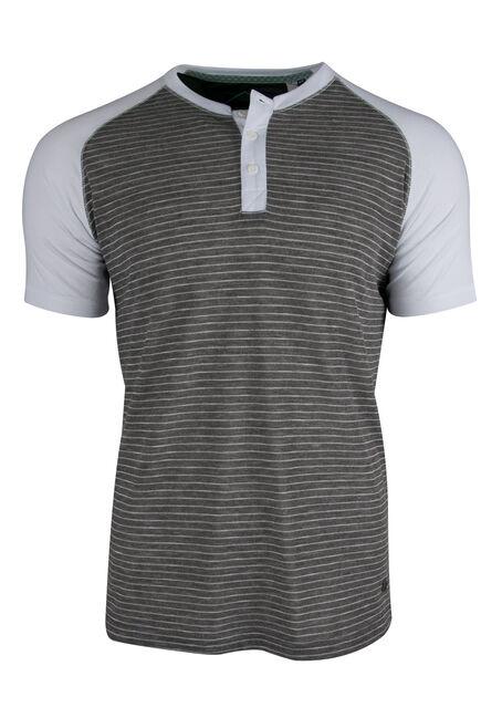 Men's Striped Henley Tee