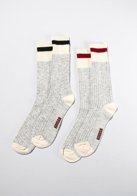Men's 2 Pair Cabin Socks, MULTI, hi-res