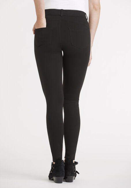 Women's 4 Pocket Pull On Legging, BLACK, hi-res