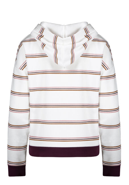 Women's Striped Hoodie, CINNAMON COMBO, hi-res