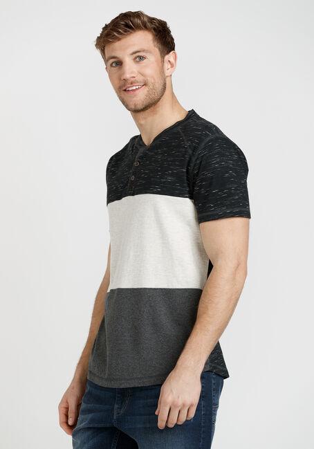 Men's Short Sleeve Colourblock Henley