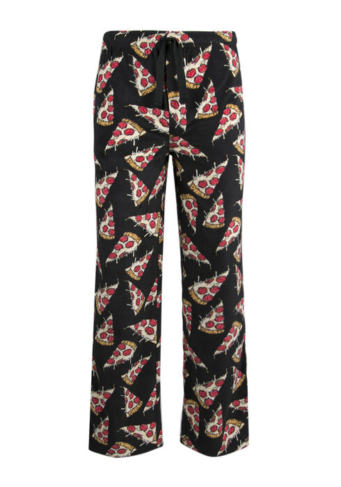 Men's Pizza Lounge Pant, BLACK, hi-res