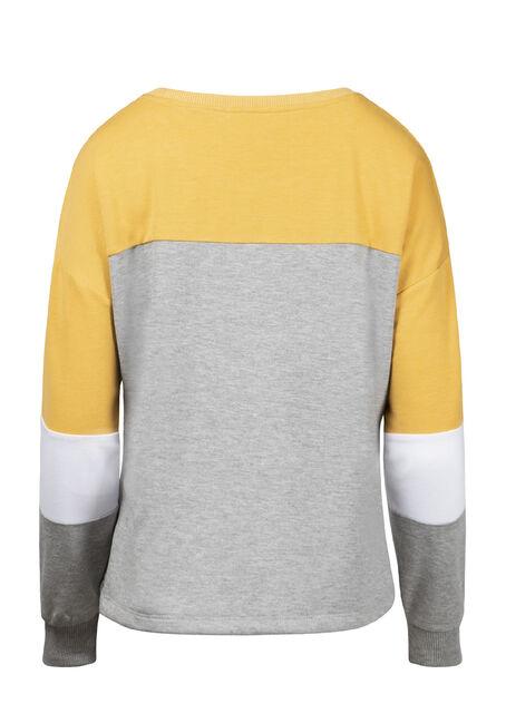 Women's Colour Block Fleece, DIJON, hi-res