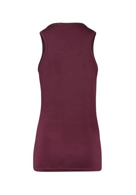 Ladies' Sequin Fooler Tank, WINE, hi-res