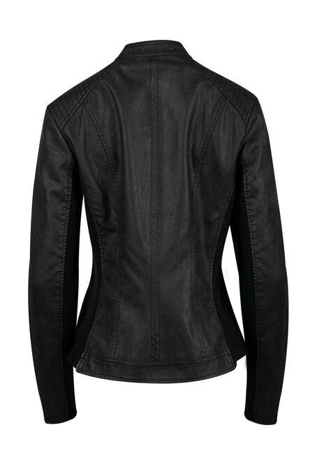 Women's Moto Jacket, BLACK, hi-res
