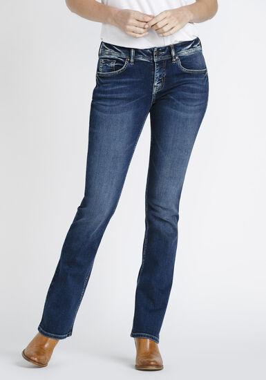 Women's Indigo Wash Baby Boot Jeans, DARK WASH, hi-res