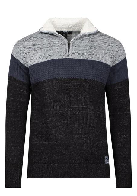 Men's 1/4 Zip Colourblock Sweater