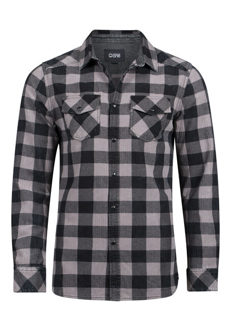 Men's Vintage Buffalo Plaid Shirt