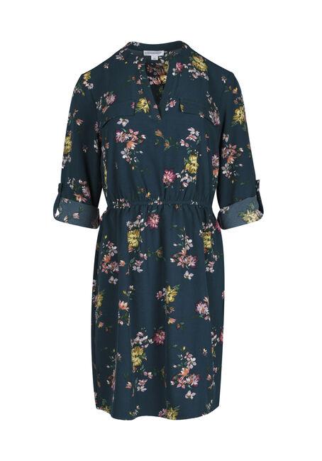 Ladies' Floral Shirt Dress