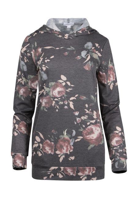 Ladies' Floral Hooded Tee