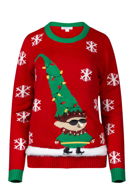 Women's Elf Light Up Holiday Sweater