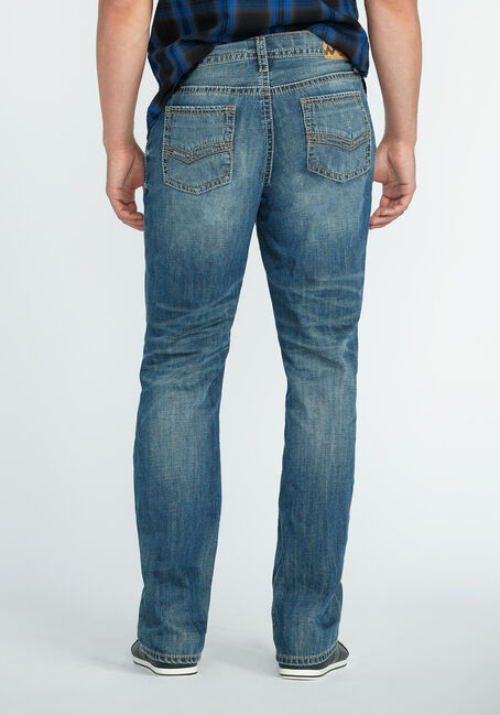 Men's Straight Leg Light Vintage Jeans, MEDIUM WASH, hi-res