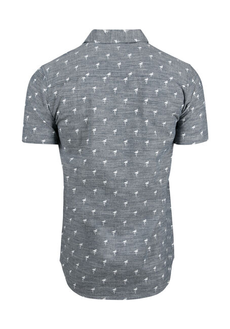 Men's Flamingo Chambray Shirt, CHARCOAL, hi-res