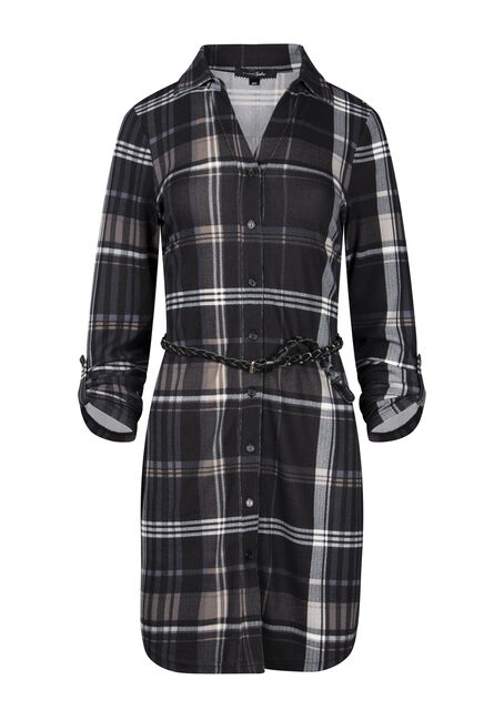 Women's Plaid Shirt Dress