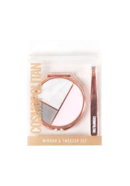 Ladies' Compact Mirror & Tweezer Set