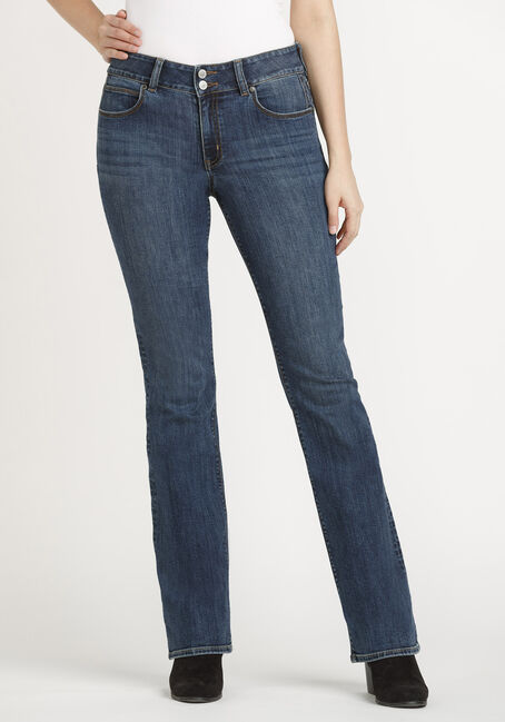 Women's 2 Button Baby Boot Jeans