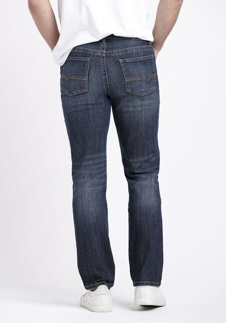Men's Dark Wash Slim Straight Jeans, MEDIUM WASH, hi-res