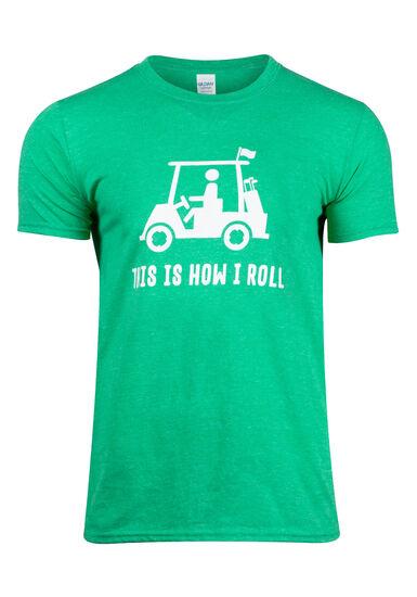 Men's How I Roll Tee, HEATHER IRISH GREEN, hi-res
