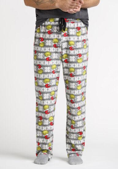 Men's Grinch Sleep Pant, CHARCOAL, hi-res