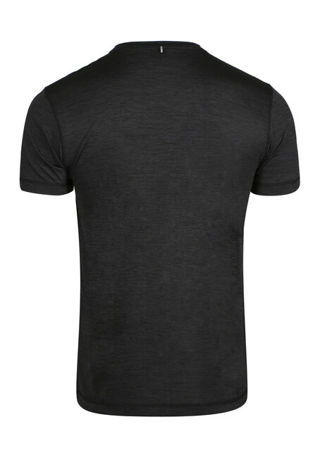 Men's Athletic Tee, BLACK, hi-res