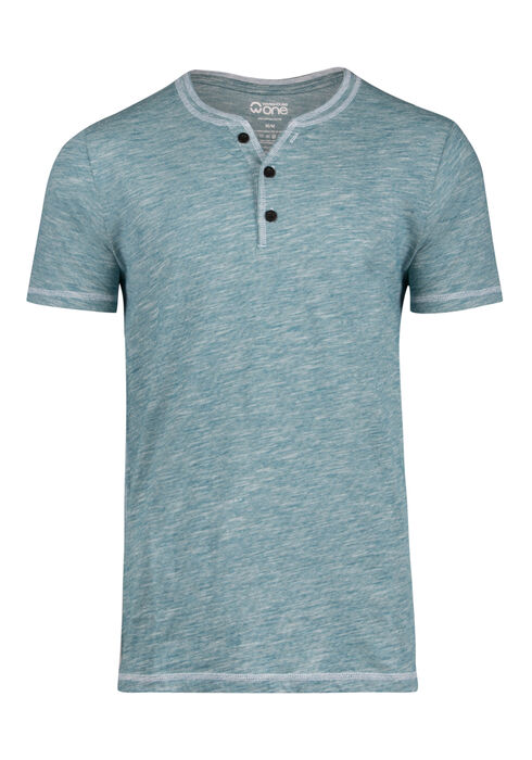 Men's Everyday Y-neck Tee, TEAL, hi-res