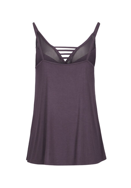 Ladies' Mesh Ladder Neck Tank, PASS PURPLE, hi-res
