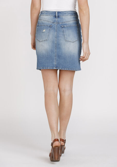 Women's Vintage Denim Skirt, DENIM, hi-res