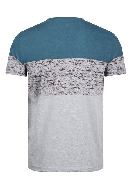 Men's Colour Block Pocket Tee, STEEL BLUE, hi-res