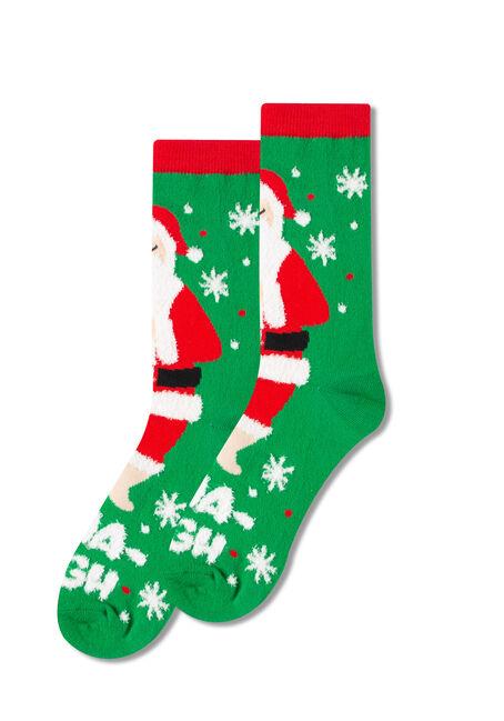 Women's Nama-Sleigh Crew Socks, GREEN, hi-res