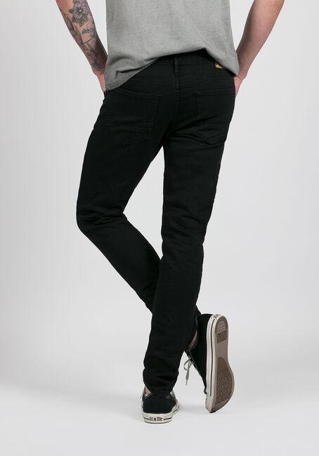 Men's Skinny Taper Jeans, BLACK, hi-res