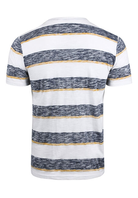 Men's Everyday Striped Tee, GOLDEN, hi-res