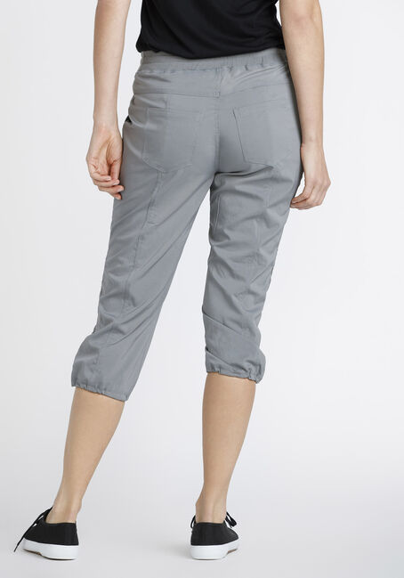 Women's Ruched Capri, GREY, hi-res