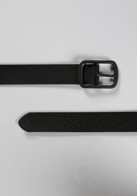 Men's Square Buckle Belt, BLACK, hi-res