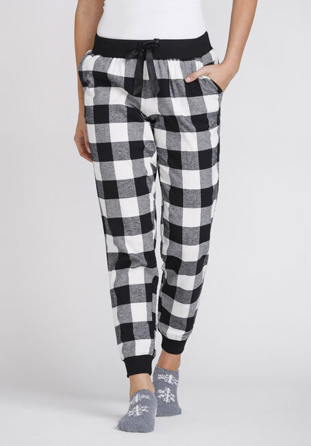 Women's Plush Buffalo Plaid Jogger
