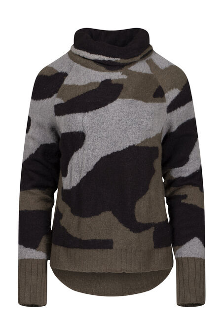 Women's Camo Mock Neck Pullover