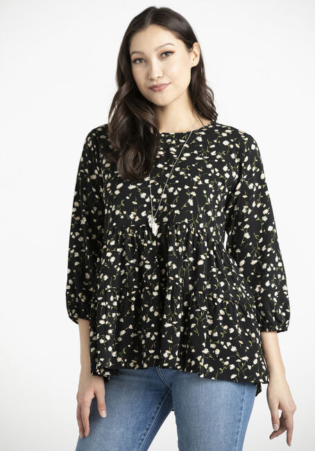 Women's Ditsy Floral Babydoll Tunic