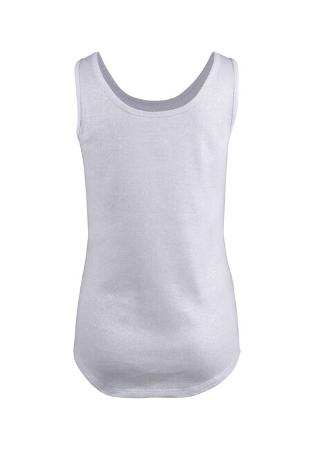 Ladies' Shimmer Tank, WHITE, hi-res