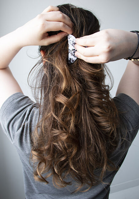 Women's Hair Clip Set, BLK/WHT, hi-res
