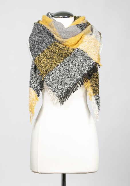 Women's Colour Block Blanket Scarf